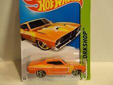 2014 Hot Wheels #238 Orange '73 Ford Falcon XB w/Yellow PR5 Wheels