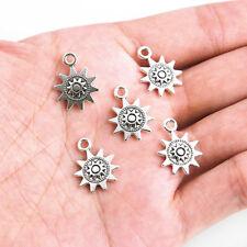 Wholesale 30pc Tibetan Silver Sun Charm Pendant Fit DIY Bracelet/ Necklace