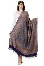 Women's Kashmiri Woolen Shawl, Jacquard palla, Warm and soft, Faux Pashmina