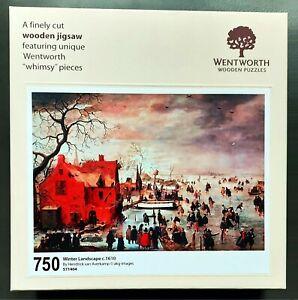 Wentworth Wooden Puzzle 750 pieces Winter Landscape Hendrick Avercamp 1610