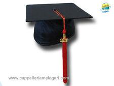 """cappello da laurea """"tocco"""" tesi di laurea università Basic Grad Hat rosso"""