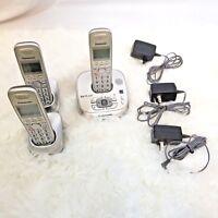 Panasonic KX-TG4021 Cordless Phone Answering System 3 Handsets Dect 6.0 Plus