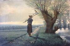 Peinture sur toile paysan breton vers 1900 anonyme ? Bretagne