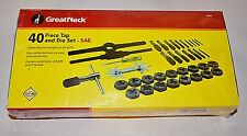 Great Neck 40 Piece SAE Tap And Die Set Priced Low & shipped Free