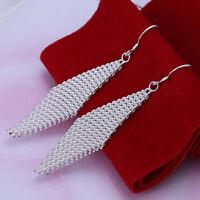 ASAMO Damen Ohrhänger Karo Ohrringe 925 Sterling Silber plattiert O1061
