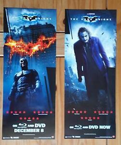THE DARK KNIGHT 2008 Batman and Joker 2 Original movie posters video release