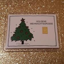 1 Gramm Gold 999,9 + Zertifikat ► 1g Goldbarren ► Goldene Weihnachten Valcambi