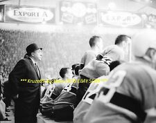 TOE BLAKE Behind BENCH 1965 STANLEY CUP vs Chicago 8x10 MONTREAL CANADIENS COACH