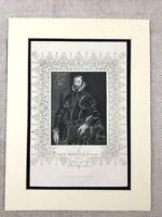1854 Antik Gravierung Aufdruck Walter Devereux Earl Von Essex Irish Geschichte