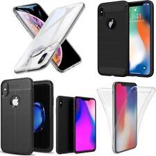 lot de 2x housse etui coque pour IPHONE XS XR XS MAX APPLE silicone transparent