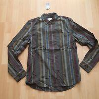 NEU Nudie Jeans,  Hemd  Shirt HENRY Club Stripes Bunker M