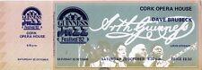 GUINNESS JAZZ FESTIVAL CONCERT TICKET DAVE BRUBECK 1982 VALUABLE GEM VINTAGEGEM