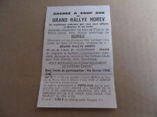 69G Vintage Publicité Papier Grand Rallye Norev 1968