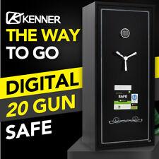 Kenner 20 Gun Safe Firearm Rifle Storage Steel Cabinet Super Heavy Duty
