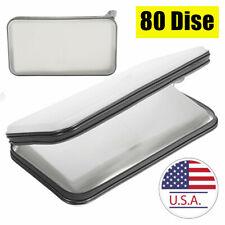80 Sleeve Organizer Car Large Capacity Storage DVD CD Bag Holder White US