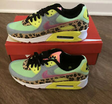 Nike Air Max 90 LX Illusion Green Leopard CW3499-300 Women's Size 9.5 / Men's 7