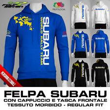 Felpa con cappuccio SUBARU sti wrx rally personalizzata uomo maglia maglietta