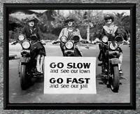 Amazing... 1940's Motorcycle Officerettes ... Vintage 5x7 Photo Print