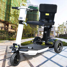 3-Wheel Electric Folding Mobility Scooter Compact Portable 3 Speed Mode Tricycle