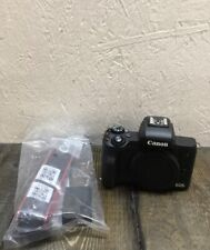 Canon EOS M50 Mirrorless Camera Body - Black. Includes Strap and Battery