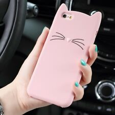Cute 3D Moustache Cat Soft Silicone Case Bearded Protective Cover for Huawei P10
