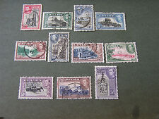 *CEYLON, SCOTT # 278-288(11),1938-52 KGV1 DEFINITIVE PICTORIAL ISSUE USED