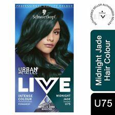Schwarzkopf Live Urban Metallics Permanent Hair Dye, U75 Midnight Jade