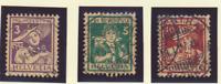 Switzerland Stamps Scott #B4 To B6, Used, Postal Cancels