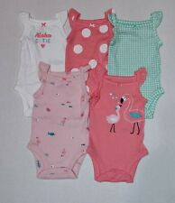 Carters Baby Girl 3m 3 Months Striped Romper lace neon