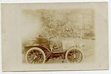 Vintage Car & Trumpet Horn Photo Postcard