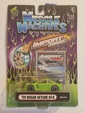 Muscle Machines Import Tuner Lime Green '00 Nissan Skyline GT-R Diecast 1:64 [P6