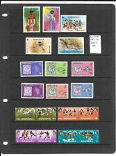 Dominica 1968-74 3 sets mint
