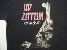 Led-Zeppelin Rock Band Re-Issue Concert Tour Fan Black Cotton T Shirt Size L