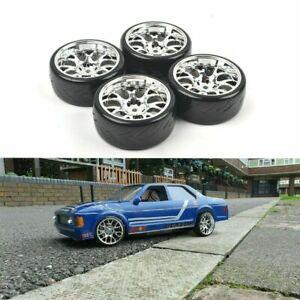 4PCS 1/10 RC Drift Racing Tires Wheels 12mm Hex for Tamiya HSP HPI On Road car
