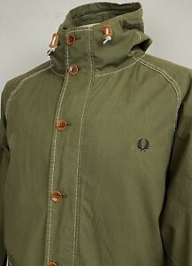 Fred Perry   Hooded Ripstop Parka XL (Green) Scooter Causals Terraces Mod Ska