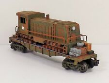 O LIONEL DIESEL LOCOMOTIVE SHELL FLAT CAR  SWITCHER MILITARY  CUSTOM COLLECT