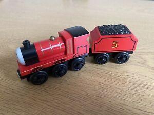 James - Thomas Tank Engine & Friends Wooden train - fits BRIO VGC