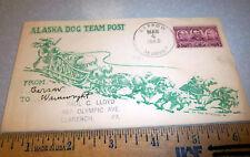 1943 stamped Cover Barrow Alaska Cancellation Dog Team Mail US Censorship cancel
