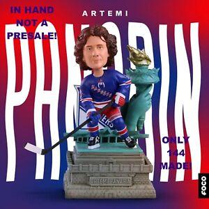 Artemi Panarin NY Rangers Statue of Liberty Bobblehead Ltd Ed 144 NIB IN HAND!