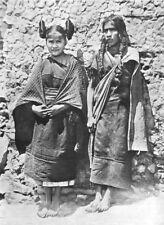 ARIZONA. Hopi girl & her mother; hair in side whorls squash-flower chastity 1900