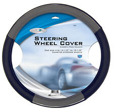 Custom Accessories 38850 Black/Grey with Chrome Accent Steering Wheel Cover