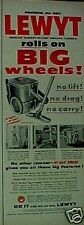 1955 Lewyt Vacuum Sweeper Household Appliance Print AD