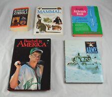 Lot of 5 Educational Books Symbols Mammals Airbrush Baseball & The Army Dd5Y9