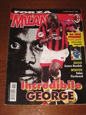 FORZA MILAN 1997/5 GEORGE WEAH ROBERTO BAGGIO VIERCHOWOD ZVONE BOBAN REGGIANA