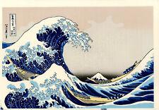 "Véritable Estampe Japonaise De Hokusai ""La Grande Vague De Kanagawa"""