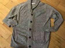 F&F Twisted Yarn Men's Grey Chunky Knit Cardigan Size L