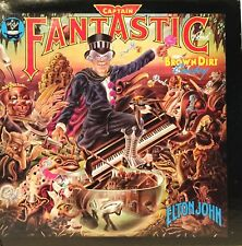 ELTON JOHN 1975 CAPTAIN FANTASTIC AND THE BROWN DIRT COWBOY 33 VINYL LP RECORD