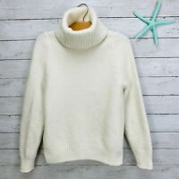 Madewell Ivory Cowl Turtleneck Sweater Merino Wool Alpaca Blend Womens Sz S