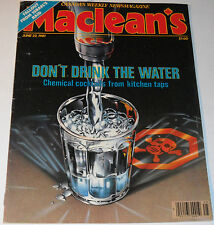 Maclean's Magazine June 22 1981 Don't Drink The Water Chemical Cocktails