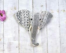 Wall Mounted 38cm White Lace Elephant Head
